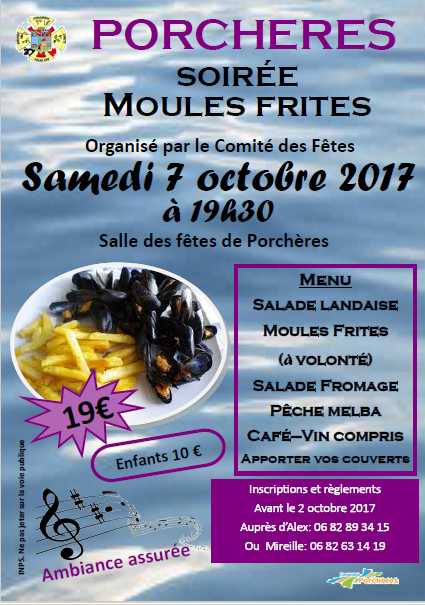 Moules frites cdf 2017